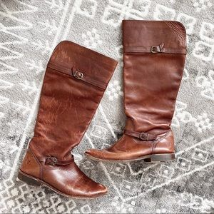 Vintage FRYE Tall Riding Leather Boots High Buckle